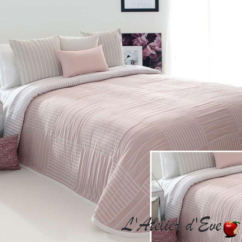"""""""Dawn"""" Couvre-lit rose jacquard lavable Reig Marti C.02"""