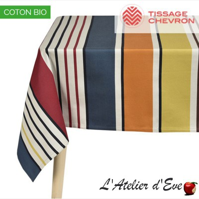 """Gouts"" Nappe coton bio Gots Made in France Artiga"