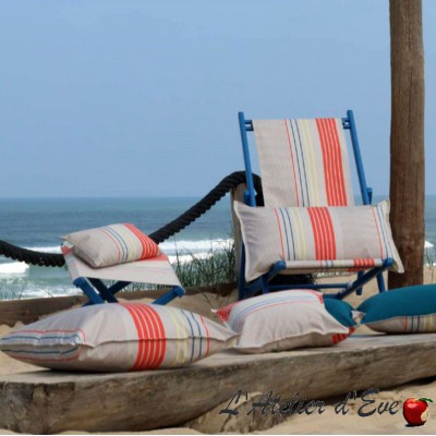 """Artique"" Basque outdoor canvas Made in France L.175cm Sunbrella Artiga"