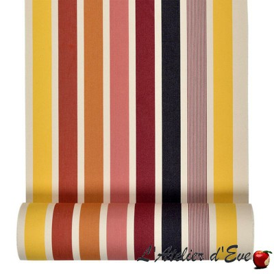 """Garlin ocher"" Cotton deckchair canvas Made in France L.42cm Artiga"