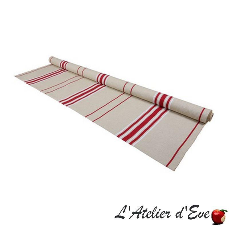"""""""Corda metis bx/blanc"""" Toile basque coton/lin Made in France L.170cm Artiga"""