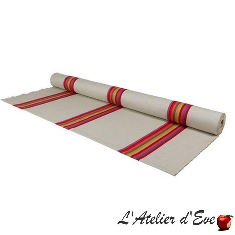 """Mauleon celadon"" Basque coated cotton canvas Made in France L.165cm Artiga"