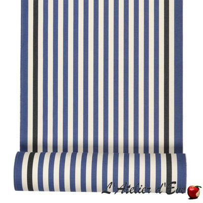 """Lacquy bleu"" Hemmed sunbed Made in France L.42cm Artiga"