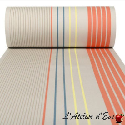 """Arctic"" outdoor deckchair fabric hemmed Made in France L.42cm Artiga"