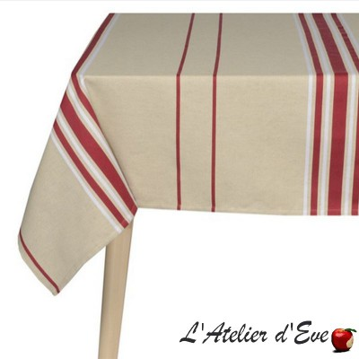 """Corda metis BX/blanc"" Nappe toile basque coton/lin Made in France Artiga"