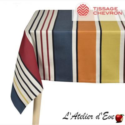 """""""Gouts"""" Basque canvas tablecloth Made in France Artiga"""
