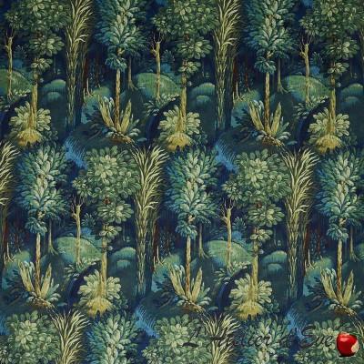 """""""Forbidden Forest"""" Coupon tissu velours fleuri ameublement Prestigious Textiles"""