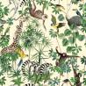 La jungle des animaux Coupon 75x140cm tissu ameublement Thevenon