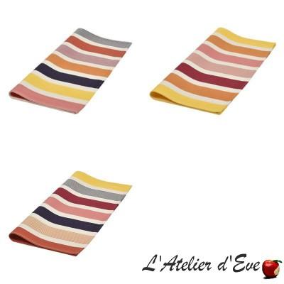 """""""Gouts"""" Table napkin Basque organic cotton canvas Made in France 50x50cm Artiga"""