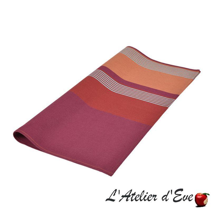 """""""Bidos"""" Serviette de table toile basque coton Made in France 50x50cm Artiga"""