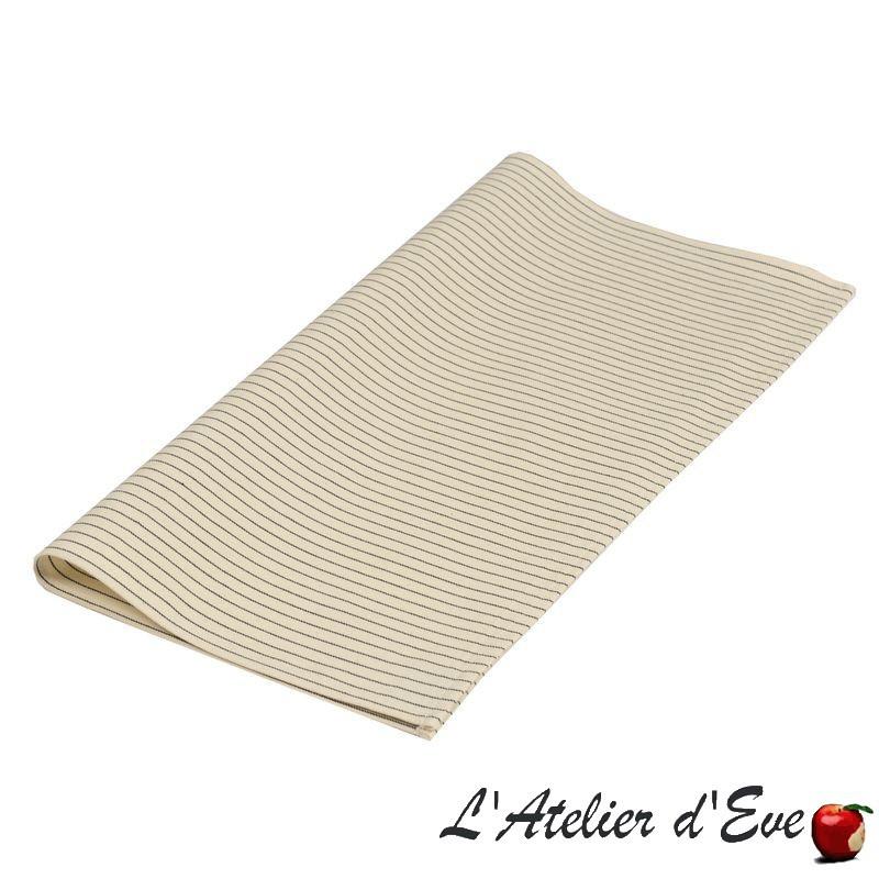"""""""Sauvelade écru"""" Serviette de table toile basque coton Made in France 50x50cm Artiga"""