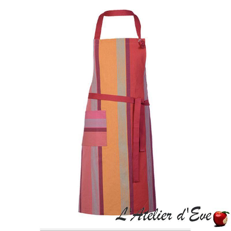 """""""Bidos"""" Tablier coton réglable 78x90cm Made in France Artiga"""