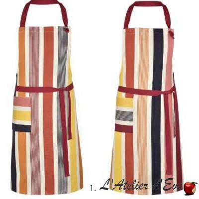 """""""Bidos"""" Adjustable cotton apron 78x90cm Made in France Artiga"""