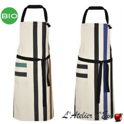 """Tastes"" Organic cotton apron Made in France Artiga"