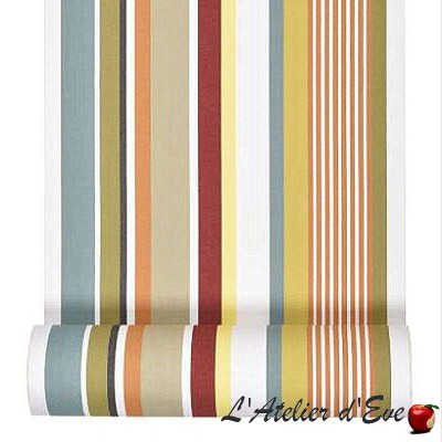 """Aroue"" Hemmed cotton deckchair canvas Made in France L.42cm Artiga"