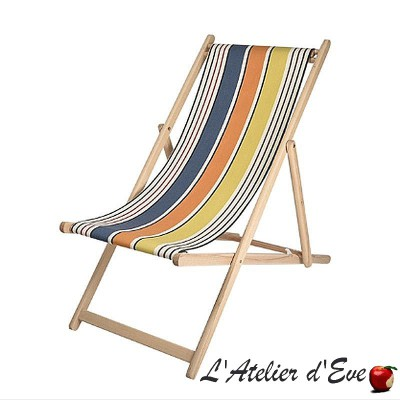 """Gouts"" Custom made deckchair canvas Made in France Artiga"