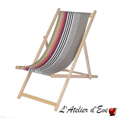 """Larrau"" Custom-made deckchair canvas Made in France Artiga"