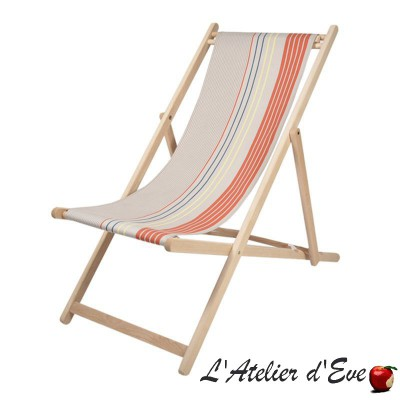 """Arctic"" made to measure deckchair canvas Made in France Artiga"