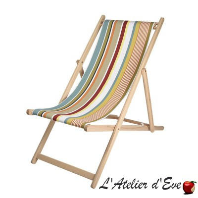"""Garazi"" Custom-made deckchair canvas Made in France Artiga"