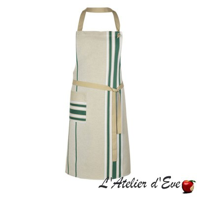 """Corda metis bordeaux"" Apron Made in France cotton / linen Artiga"
