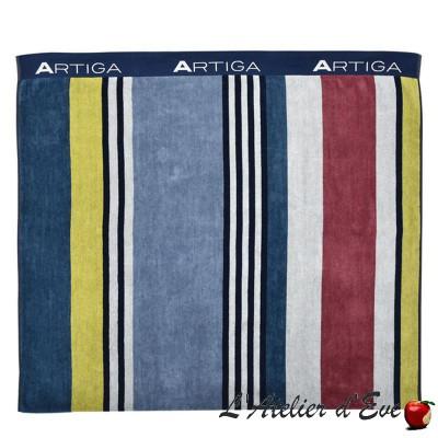 """Aroue"" Double sided cotton / sponge Fouta 100x180cm Artiga"