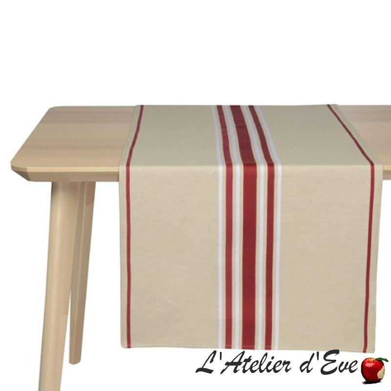 """""""Corda metis"""" Jeté toile basque coton/lin Made in France Artiga"""