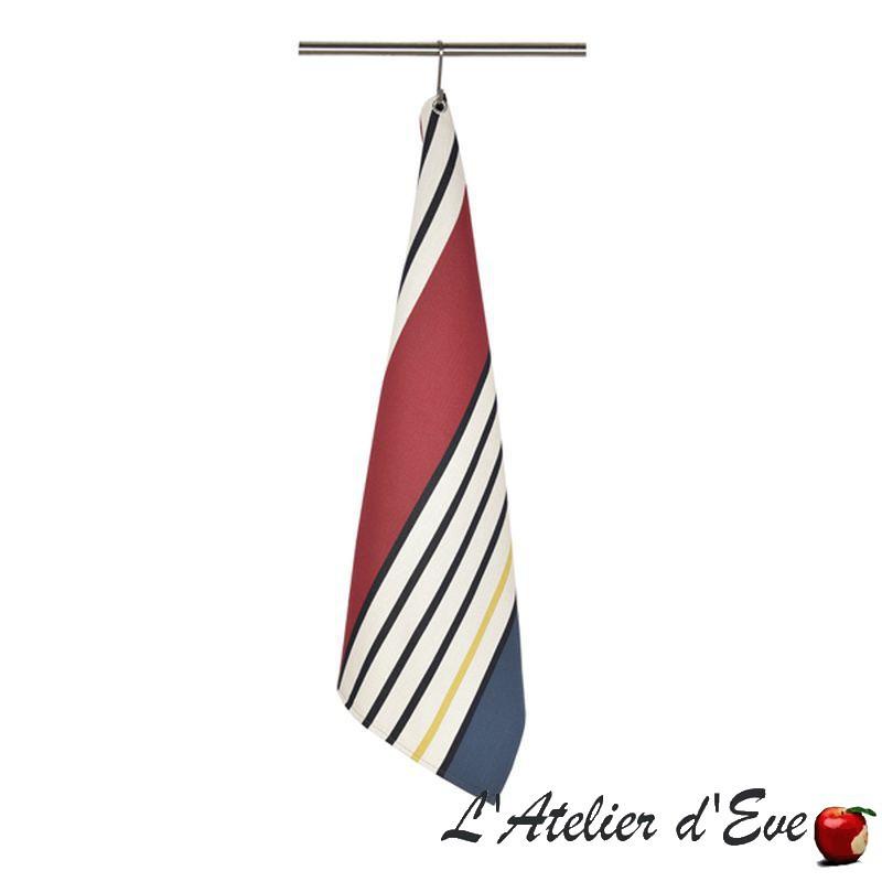 """""""Gouts"""" Torchon coton bio toile basque Made in France 75x50cm Artiga"""