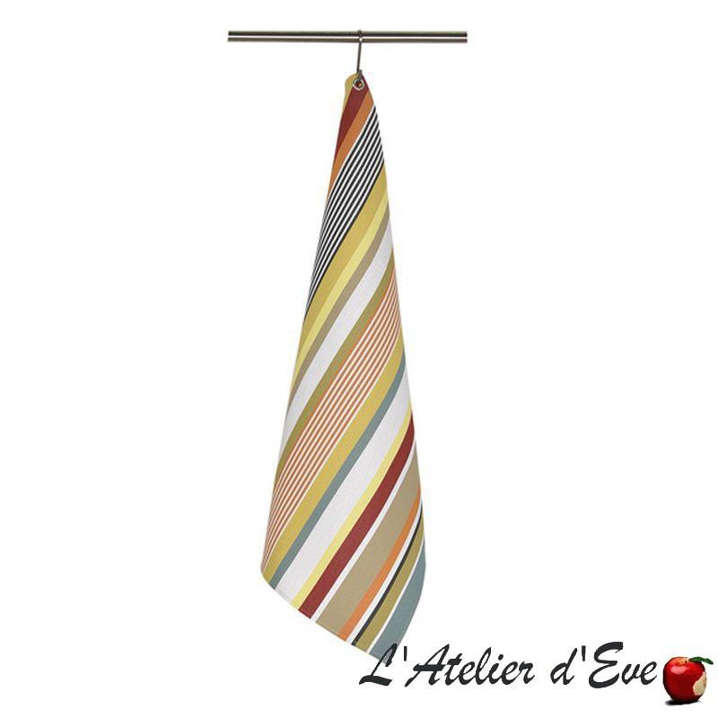 """""""Garazi"""" Torchon coton bio toile basque Made in France 75x50cm Artiga"""