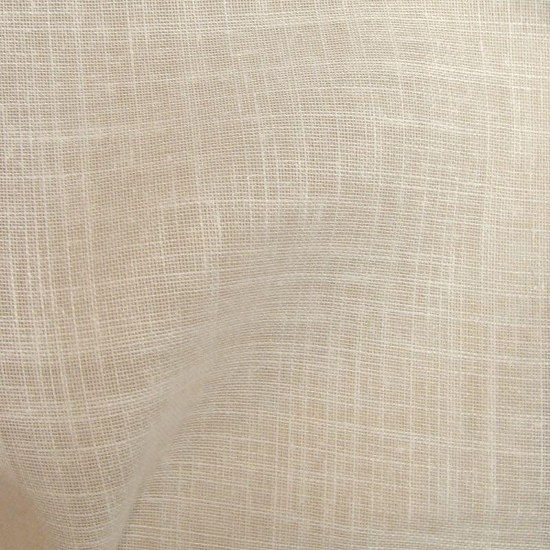 Etamine crème voilage pas cher aspect lin sur mesure Thevenon