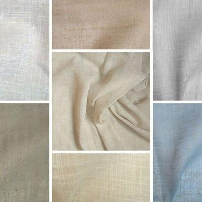Etamine 7 coloris Rouleau étamine grande largeur unie aspect lin Thevenon Piece/Demi piece