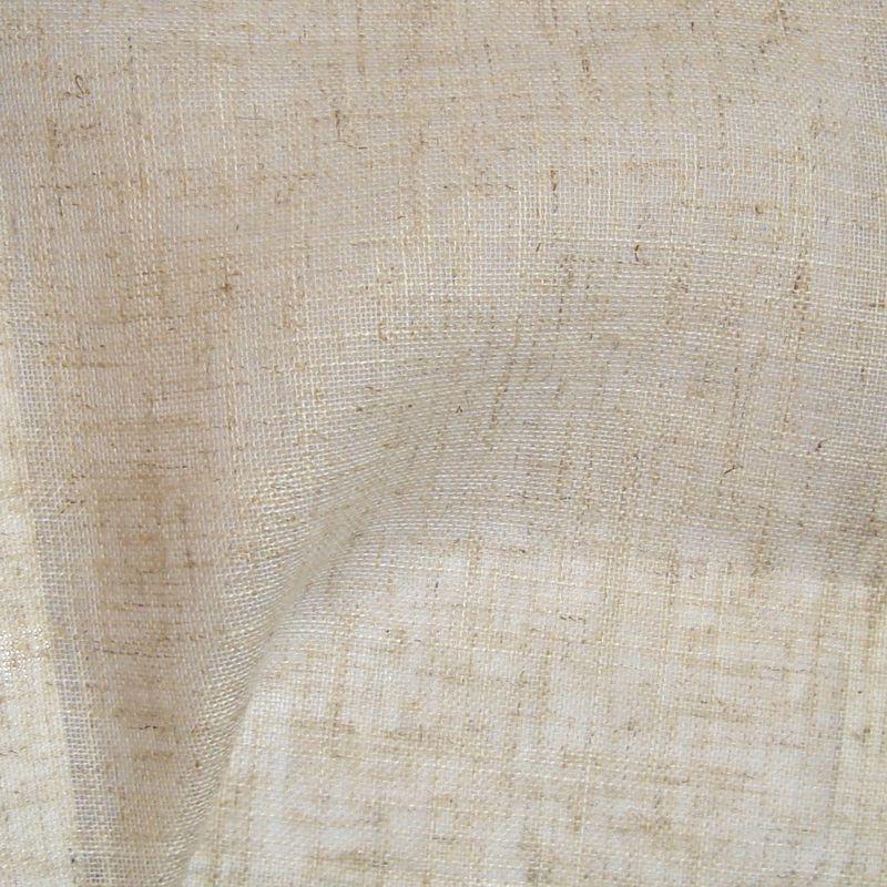 Etamine naturel rouleau voilage grande largeur aspect lin au mètre Thevenon