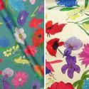 Blooming (2 coloris) Tissu ameublement coton fleuri Thevenon