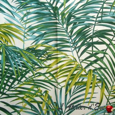 """Palm springs"" Coupon 140x260cm fabric furniture Thévenon"