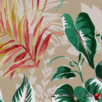 """Palmy"" Coupon 140x270cm fabric furniture Thévenon"