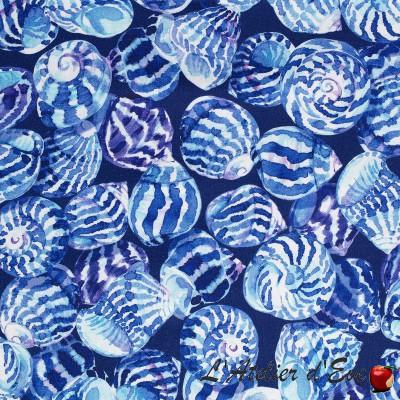 """Ocean"" cream background Coupon 100x140cm upholstery fabric Thevenon"