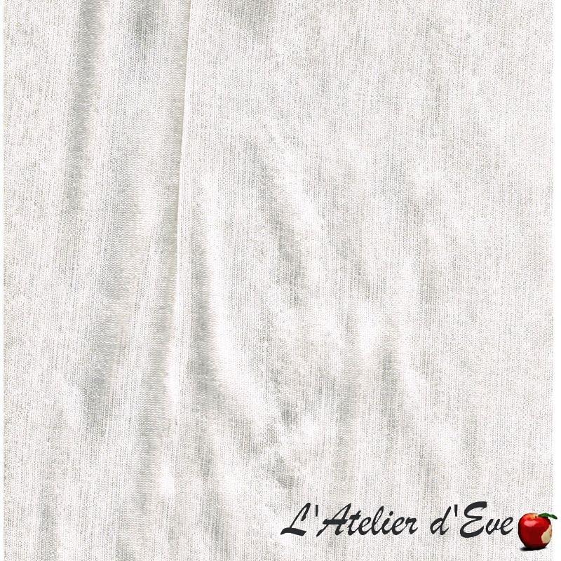 Au Galop Tissu ameubement bachette coton grand largeur fond galet Thevenon le metre