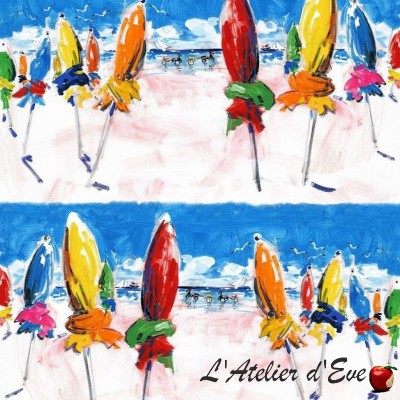 """St martin Beach"" fabric cotton furnishing Thévenon"