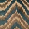 """""""Auguste"""" Turquoise Coupon 110x65cm Tissu ameublement jacquard velours Thevenon"""