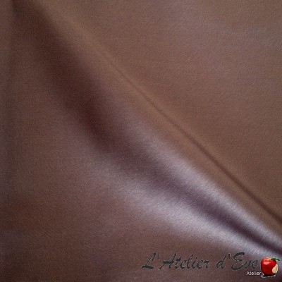 """Faubourg"" Violine Coupon 85x65cm Thevenon satin upholstery fabric"