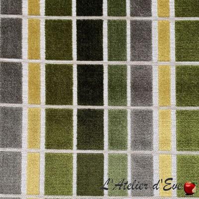 """Giorgio"" Gray / Gold Coupon 110x65cm Thevenon jacquard fabric"