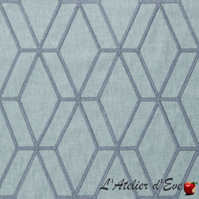 """""""Confidence"""" Modern embroidered fabric with Thevenon furnishings"""