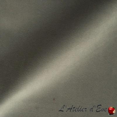"""""""Sweet Love"""" Gris souris Coupon 110x35cm Tissu velours ras Thevenon"""