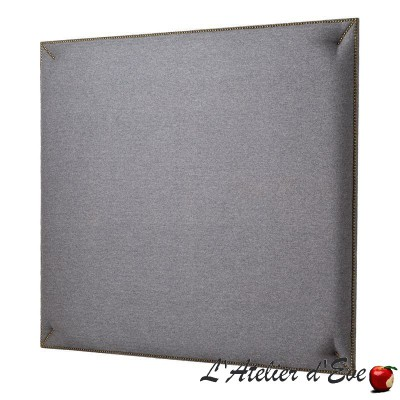 """""""Duo"""" Headboard with upholstered nails Rive gauche fabric Thevenon"""