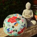 """""""Zafu"""" Jardin fleuri Coussin de méditation Made in France L'Atelier d'Eve"""