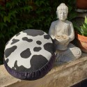 """Zafu"" Blue bird Meditation cushion Made in France L'Atelier d'Eve"