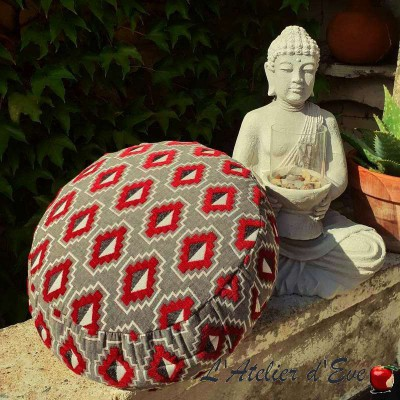 """Zafu"" Ethnik Meditation cushion Made in France L'Atelier d'Eve"