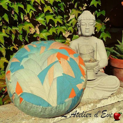 """Zafu"" Tropical Meditation cushion Made in France L'Atelier d'Eve"