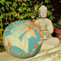 """Zafu"" Tropical Coussin de méditation Made in France L'Atelier d'Eve"