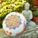 """Zafu"" Mandala Coussin de méditation Made in France L'Atelier d'Eve"