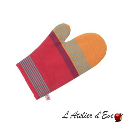 """Bidos"" Basque cotton canvas mitten 30x19cm Artiga"